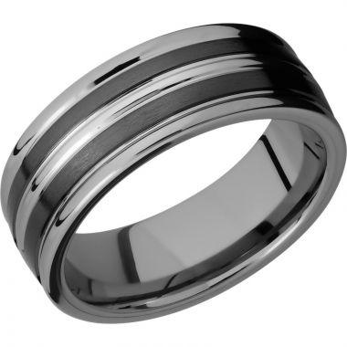 Lashbrook Black Tungsten Men's Wedding Band