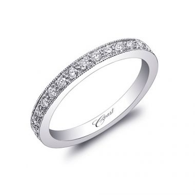 Coast 14k White Gold 0.25ct Diamond Wedding Band