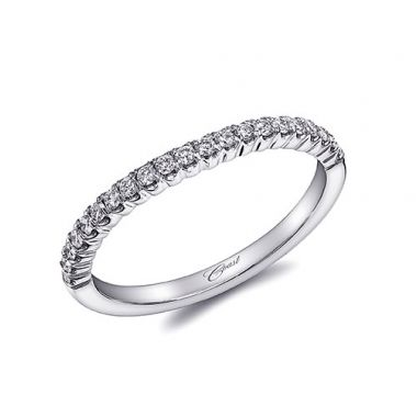 Coast 14k White Gold 0.21ct Diamond Wedding Band