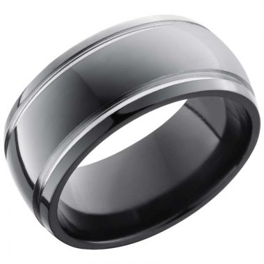 Lashbrook Black Zirconium 10mm Men's Wedding Band