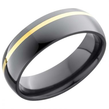 Lashbrook Black & Yellow Zirconium 6mm Men's Wedding Band