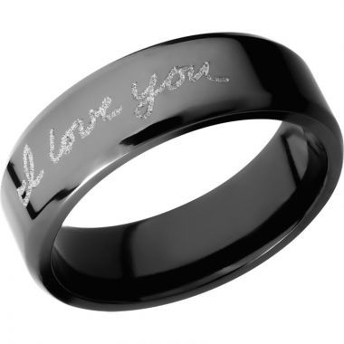 Lashbrook Black Zirconium 7mm Men's Wedding Band