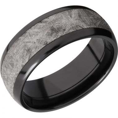 Lashbrook Black Zirconium Meteorite 8mm Men's Wedding Band