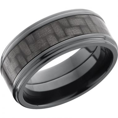 Lashbrook Black Zirconium 9mm Men's Wedding Band