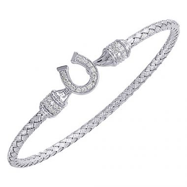 Charles Garnier Sterling Silver with CZ Lucky Bracelet