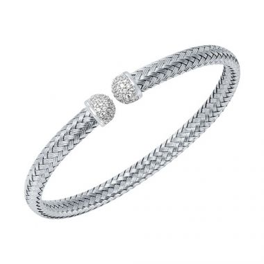 Charles Garnier Sterling Silver with CZ Mimosa Bracelet