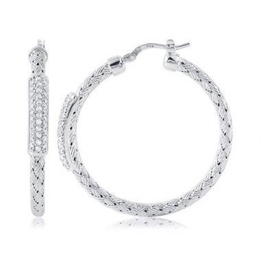 Charles Garnier Sterling Silver with CZ Nardini Ea35 Earrings