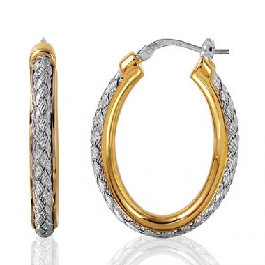 Charles Garnier Sterling Silver with CZ Norma Ov Earrings