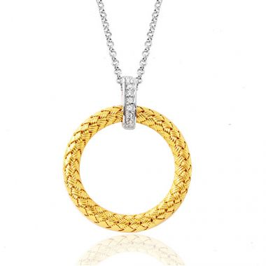 Charles Garnier Sterling Silver with CZ Sorrento Pd Pendant